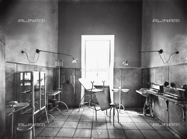 A surgery room in the asylum of San Salvi, Florence
