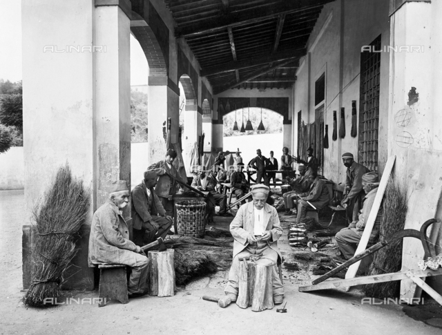 Florence. Hospital of San Salvi. Patients at work