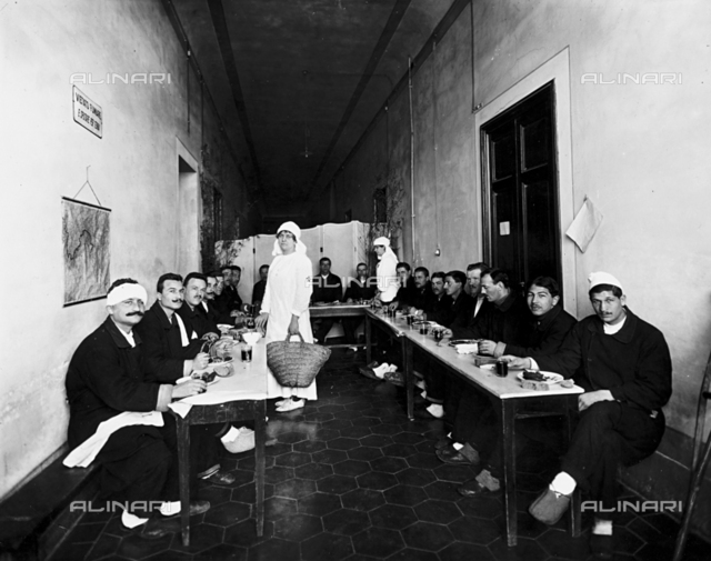 The canteen of the Sacro Cuore Hospital in Camerata, near Florence