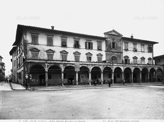 Ex Serristori Hospital, Faà§ade, Figline Valdarno.