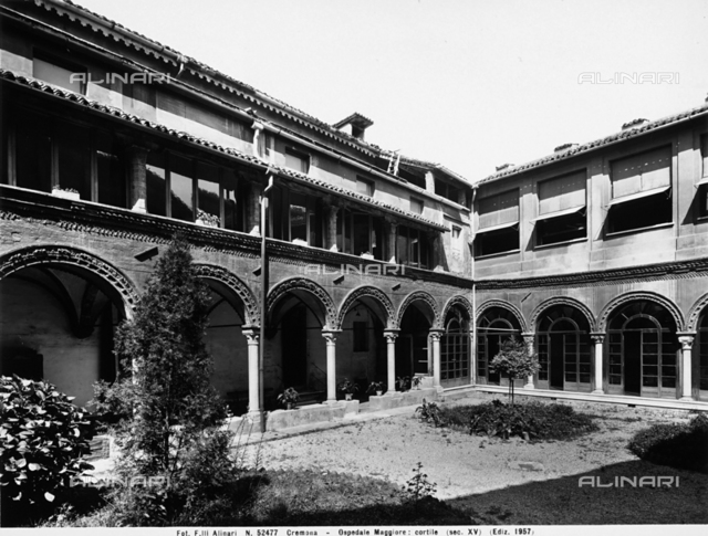 Courtyard, General Hospital, Cremona.
