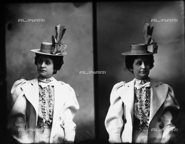 Portrait of signora Emma Berchielli, multiple image