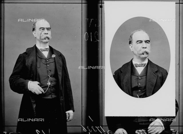 Portrait of political Plutino Agostino (1810 - 1885), multiple image