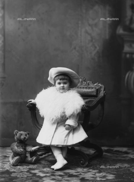 Portrait of the infant daughter of Wheeler family
