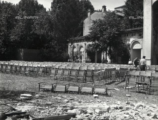 Demolition of the Alhambra Garden Theatre, Piazza Beccaria