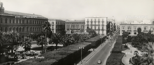 View of Via Vittorio Veneto in Bari