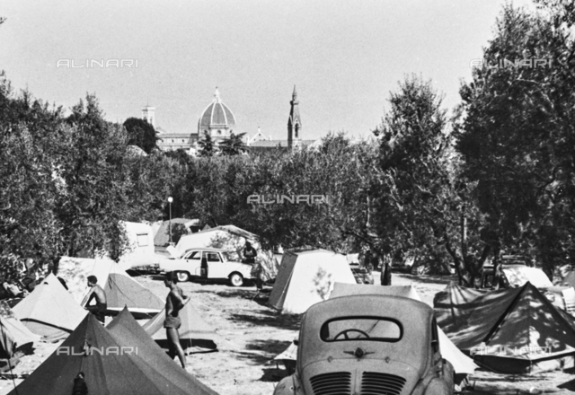 Campers in the Camping Michelangelo, Viale Michelangelo, Florence