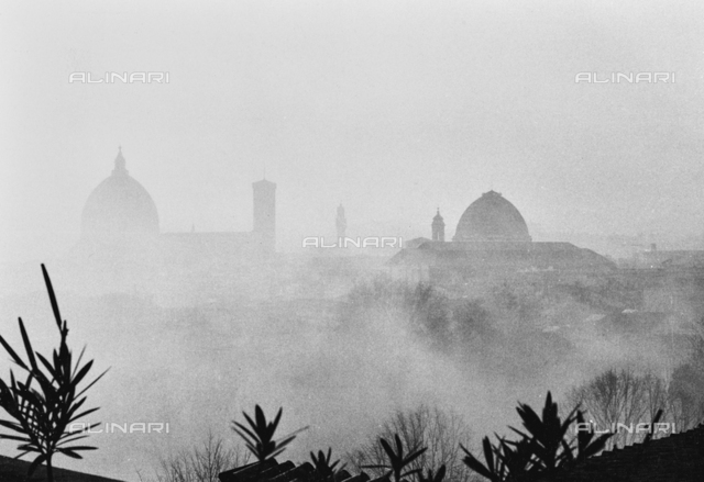 Florence Panorama with fog from the house terrace Aranguren
