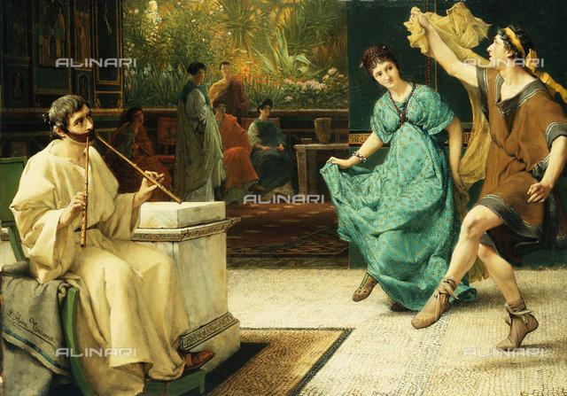 The Roman Dance, oil on panel, Sir Lawrence Alma-Tadema (1836-1912)