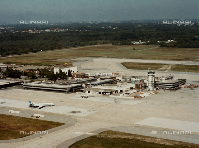 View of the runway to Malpensa Airport, Milan