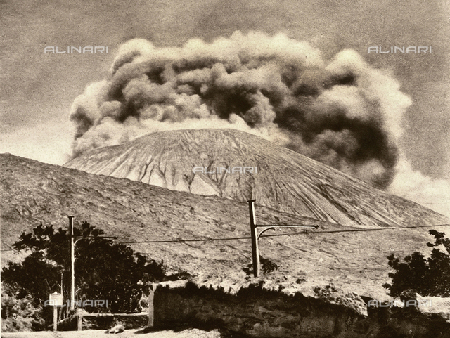 The last stages of the eruption of Vesuvius in 1906.