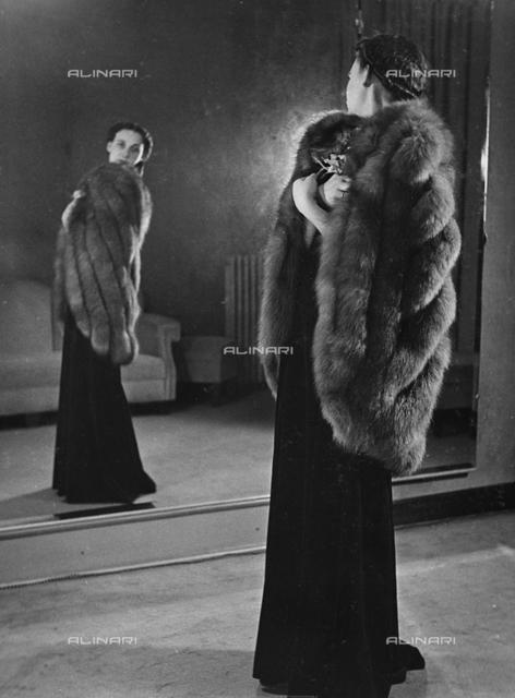 Model wearing a tailored article, Viscardi-Torino, fashion event in Sanremo