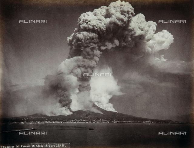 The eruption of Vesuvius on 26 April 1872 at 3:30 P.M.