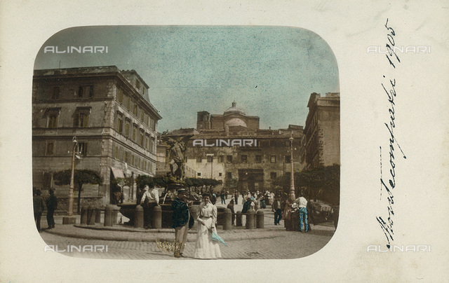 View of a piazza, Montecompatri, Rome