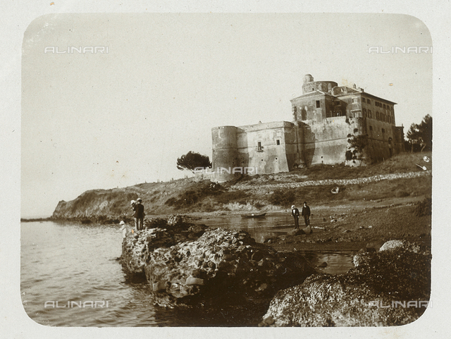 View of the medieval castle of Santa Severa Santa Marinella, Rome