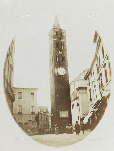 Bell tower, cathedral of San Domenico, Velletri, Rome