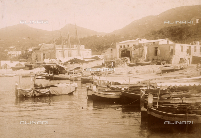 The port of Casamicciola on the Island of Ischia.