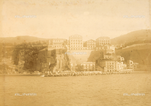 View of Sorrento from the sea.