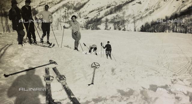 Skiers at Abetone