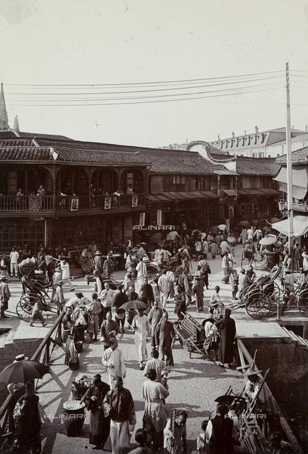A street market in Shanghai