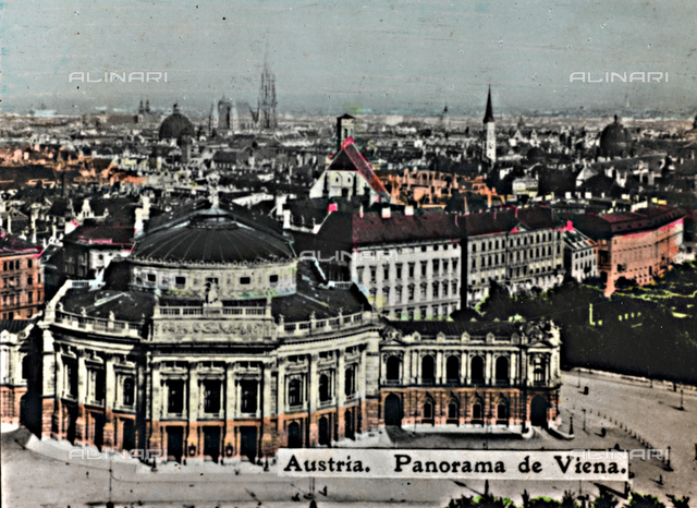 """Alrededor del Mundo - Obsequio de Susini""; panoramic view of Vienna with the Hofburg Theater"