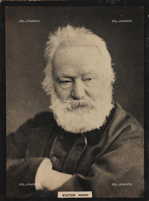 Portrait of the French writer  Victor Hugo (1802-1885)