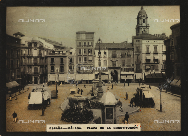 Animated view of Plaza de la Constitucià³n in Mà¡laga