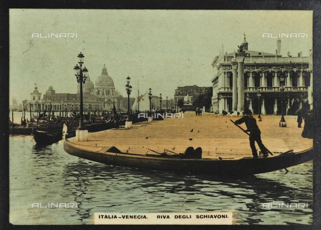 Animated view of Riva degli Schiavoni in Venice