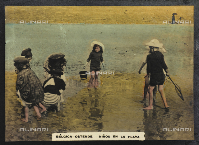 Children playing on the beach, Ostend