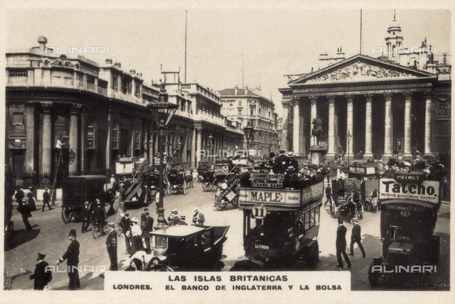 The Bank of England and the Stock Exchange, London