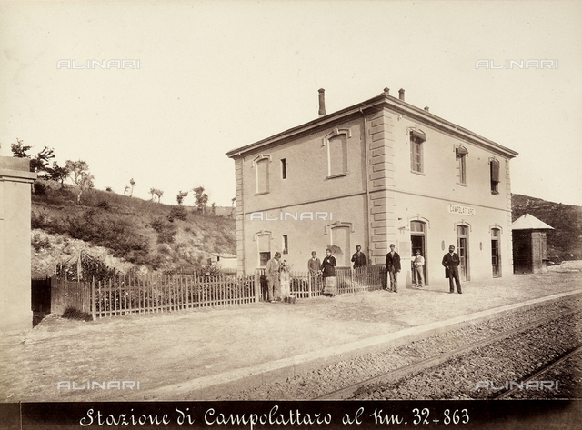 View of the railway station of Campolattaro, situated on the Benevento-Campobasso railway line, at Km. 32+863.