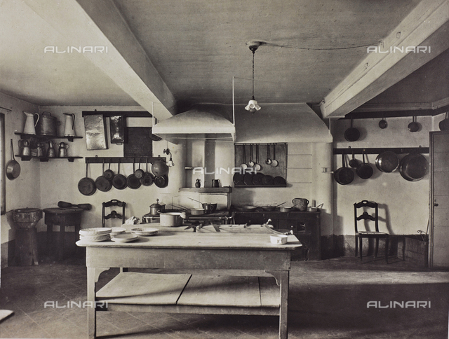 The kitchen of the neo-classic Villa Margherita, now Manfrin, in Treviso
