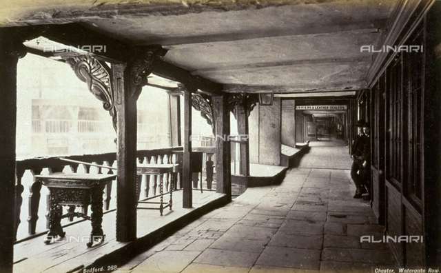 One of the porticoes of Watergate Street Gallery in Chester