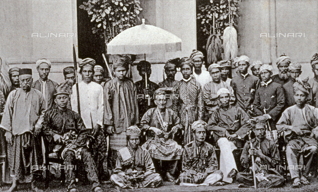 Portrait of a group of Malay rajahs