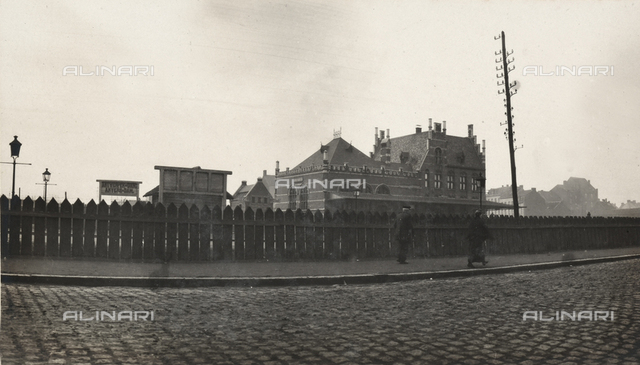 View of the Dam railway station in Anvers, at its new location.