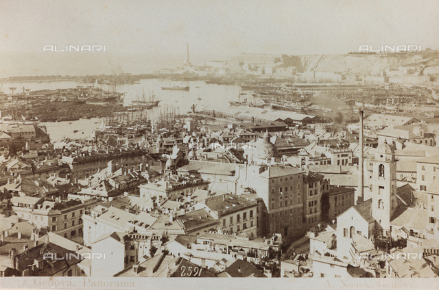 Panoramic view of Genoa