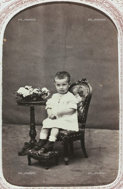 Portrait of a child, carte de visite