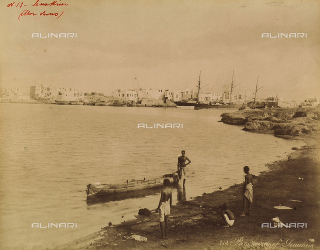 Port Souakim on the shores of the Red Sea