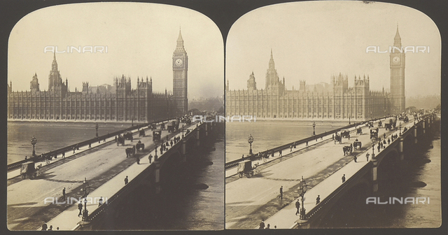 The Westminster bridge and the House of Parliament in London