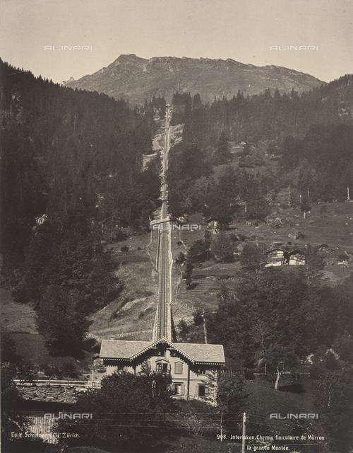 Funicular near Mürren (Murren), Switzerland
