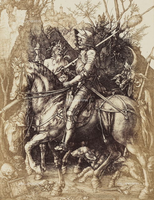 The Knight, Death and the Devil, by Albrecht Durer.