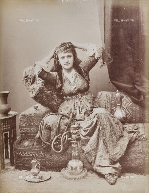 Portrait of Turkish woman in traditional costume
