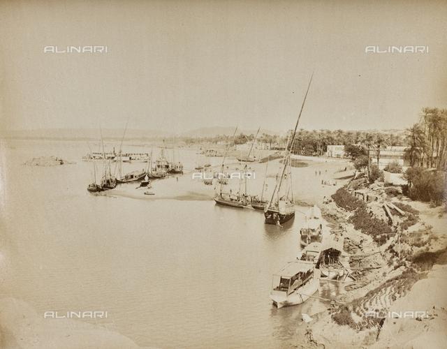 The port of Aswan, Egypt