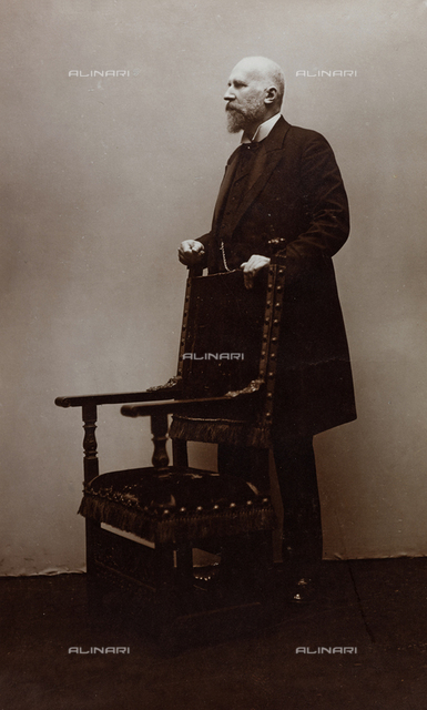 Male portrait with chair