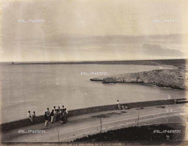 View of the sea in Terrasini, Palermo