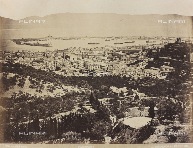 Panoramic view of Messina