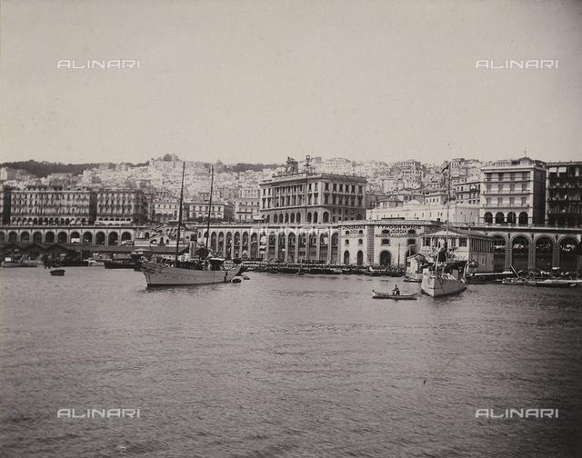 View of the port of Algiers