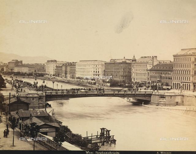 Stephanie bridge over the river of Vienna