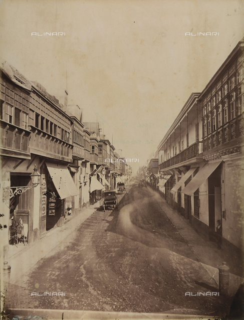 View of a street in Lima