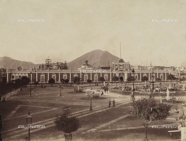 The Government Palace in Plaza de Armas, Lima